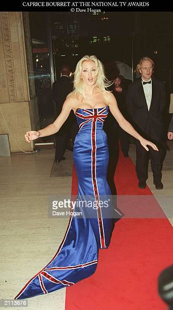 Model Caprice Bourret attends the National Television Awards at the Royal Albert Hall London October 27 1998 Caprice hosted the event