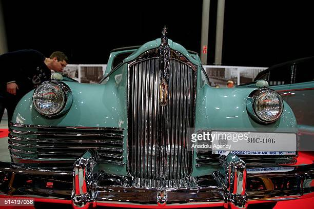 ZIS 110B model car on display at the 25th OldtimerGallery Show at Sokolniki Exhibition and Convention Centre Moscow Russia on March 07 2016 The 25th...
