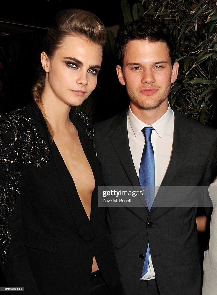 Model Cara Delevingne (L) and actor Jeremy Irvine attend the IFP, Calvin Klein Collection & Euphoria Calvin Klein celebration of Women In Film At The 66th Cannes Film Festival on May 16, 2013 in Cannes, France.