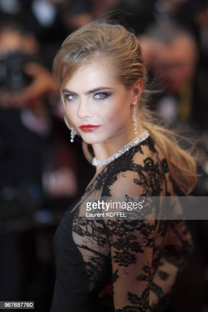 Model Cara Delevingne attends Electrolux at Opening Night of The 66th Annual Cannes Film Festival at the Theatre Lumiere on May 15 2013 in Cannes...
