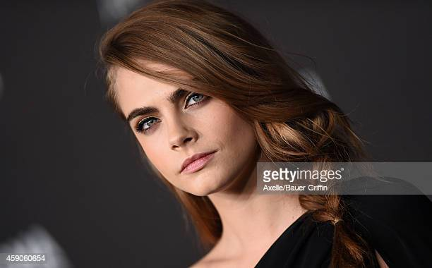 Model Cara Delevingne attends the 2014 LACMA Art Film Gala Honoring Barbara Kruger And Quentin Tarantino Presented By Gucci at LACMA on November 1...