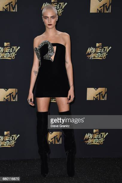 Model Cara Delevingne attends the 2017 MTV Movie and TV Awards at The Shrine Auditorium on May 7 2017 in Los Angeles California