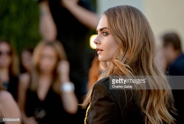 679c9268afc Model Cara Delevingne attends the Burberry London in Los Angeles event at  Griffith Observatory on April