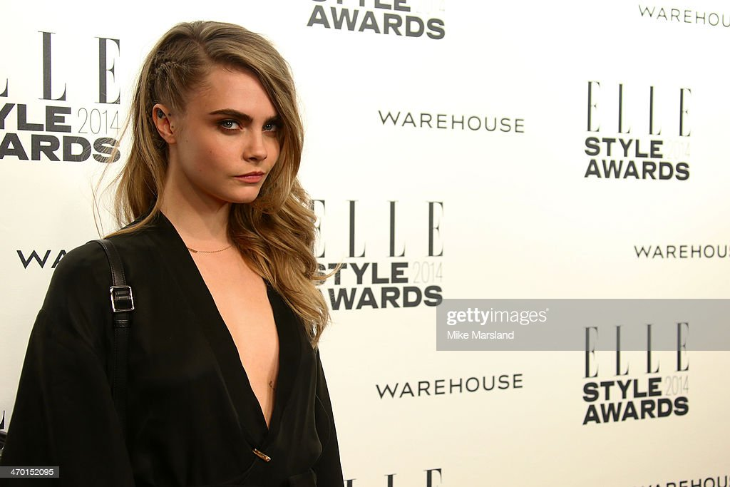 Model Cara Delevingne attends the Elle Style Awards 2014 at one Embankment on February 18, 2014 in London, England.