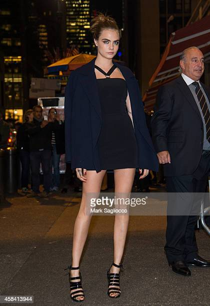 Model Cara Delevingne attends the Topshop Topman New York City Flagship Opening Dinner Grand Central Terminal on November 4 2014 in New York City