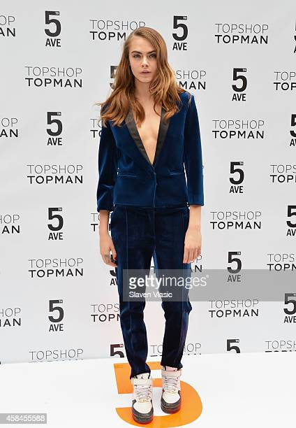 Model Cara Delevingne attends Topshop Topman Flagship Store grand opening on November 5 2014 in New York City