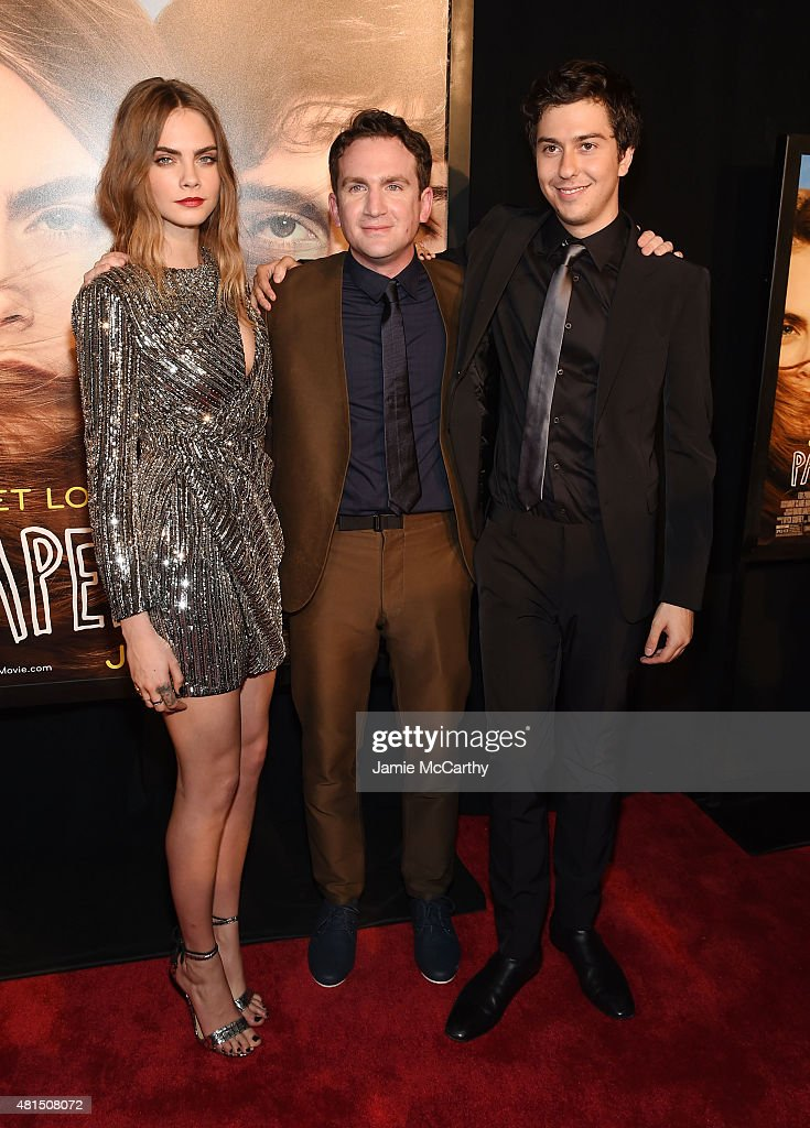 Model Cara Delevingne, Director Jake Schreier and Actor Nat Wolff attend the New York premiere of 'Paper Towns' at AMC Loews Lincoln Square on July 21, 2015 in New York City.
