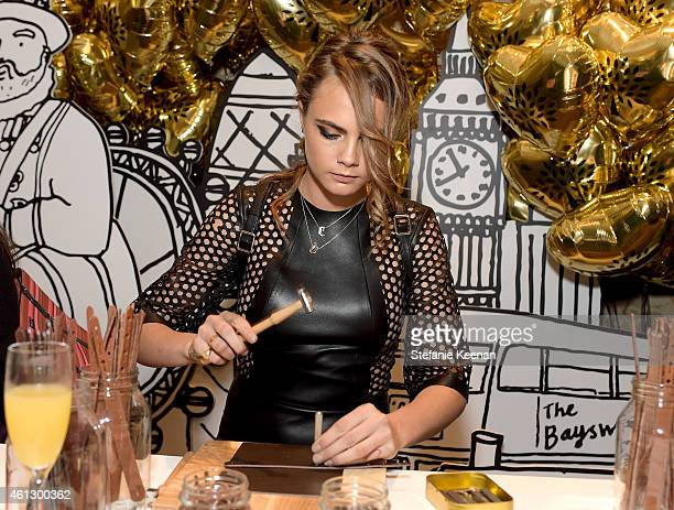 Model Cara Delevingne in Mulberry attends the BAFTA Los Angeles Tea Party at The Four Seasons Hotel Los Angeles At Beverly Hills on January 10 2015...