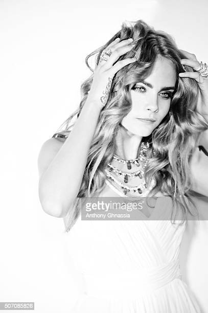 Model Cara Delevingne is photographed for Self Assignment on May 19 2015 in Paris France
