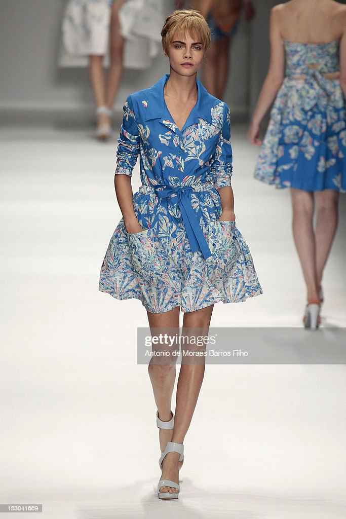 1a39358288d Cacharel: Runway - Paris Fashion Week Womenswear Spring / Summer 2013 :  News Photo