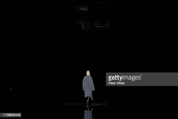 Model Cara Taylor walks the runway at the Marc Jacobs fashion show during New York Fashion Week on February 13 2019 in New York City