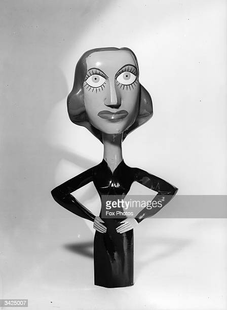 A model caricature of famous screen star Joan Crawford by Banx