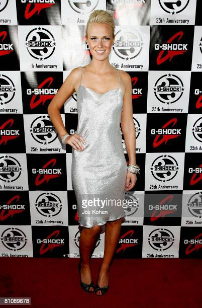 Model CariDee English attends the Casio GSHOCK 25th Anniversary Celebration at Gustavino's on May 14 2008 in New York City