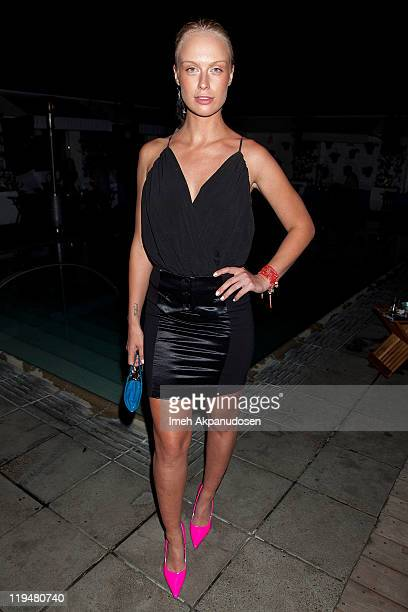 Model CariDee English attends the Gunas West Coast Launch Hosted By Sophie Monk at SkyBar at the Mondrian Los Angeles on July 20 2011 in West...