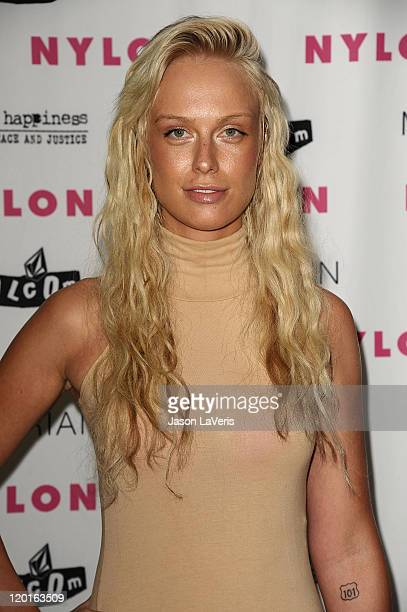 Model CariDee English attends the Nylon Magazine August denim issue party at Sky Bar Mondrian Hotel on July 27 2011 in West Hollywood California