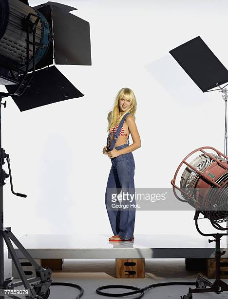 Model CariDee is photographed for Seventeen Magazine on June 9, 2006 in Barcelona, Spain and on September 25, 2006 in New York City.