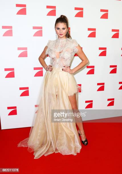 Model Carina Zavline a Top 8 finalist from Germany's Next Top Model arrives at the premiere of the television show 'This Is Us Das ist Leben' at Zoo...