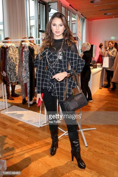 Model Carina Zavline attends the InStyle Lounge Opening Brunch/Open House at Cafe Moskau on January 16 2019 in Berlin Germany