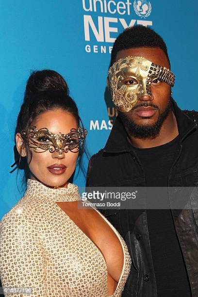 Model Carissa Rosario and former NFL player James Anderson at the fourth annual UNICEF Next Generation Masquerade Ball on October 27 2016 in Los...
