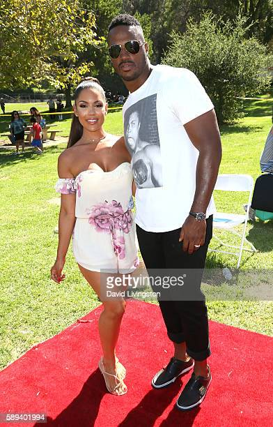 Model Carissa Rosario and James Anderson attend the Say NO Bullying Festival at Griffith Park on August 13, 2016 in Los Angeles, California.