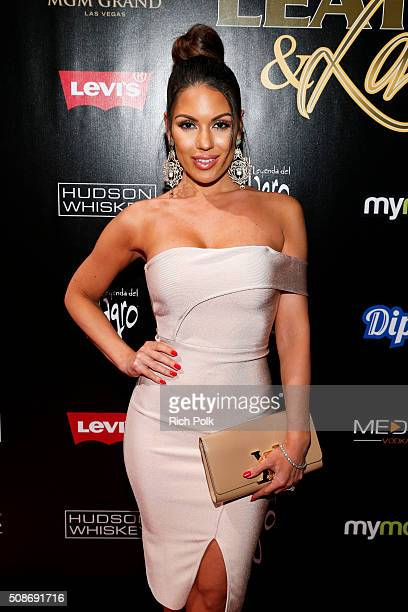 Model Carissa Rosario arrives at the 13th annual Leather Laces Mega Party Super Bowl 50 at Metreon on February 5 2016 in San Francisco California