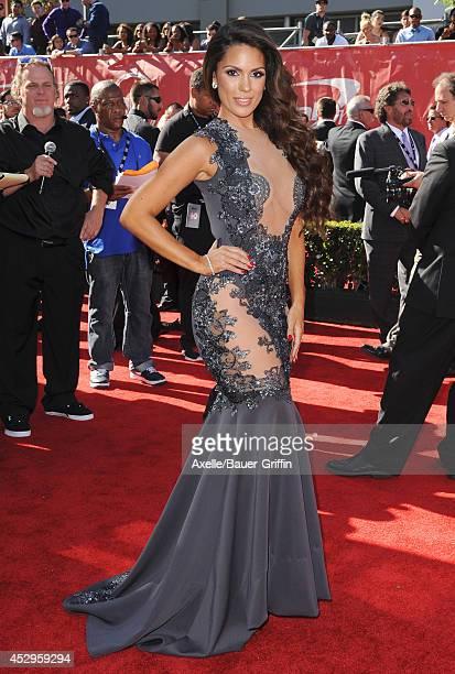 Model Carissa Rosario arrives at the 2014 ESPY Awards at Nokia Theatre LA Live on July 16 2014 in Los Angeles California