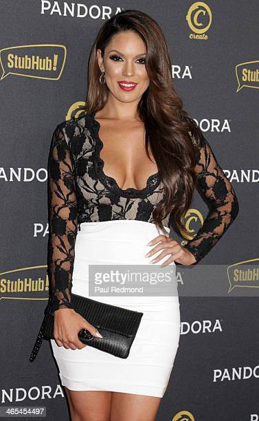 Model Carissa Rosario arrives at the Pandora GRAMMY After-Party Featuring Adrian Lux at Create on January 26, 2014 in Hollywood, California.