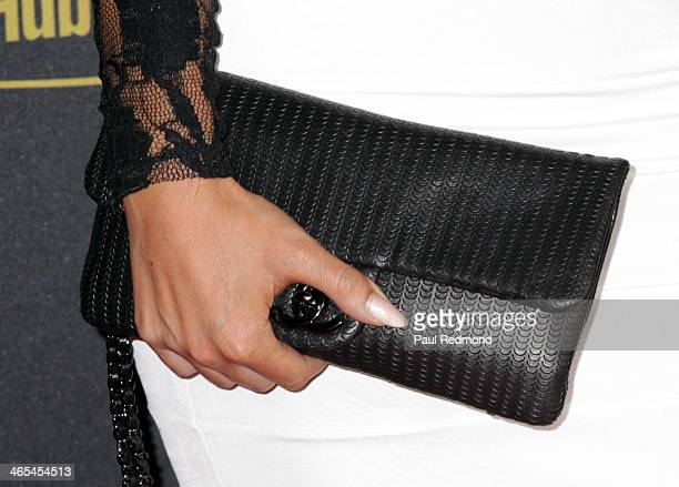 Model Carissa Rosario arrives at the Pandora GRAMMY AfterParty Featuring Adrian Lux at Create on January 26 2014 in Hollywood California