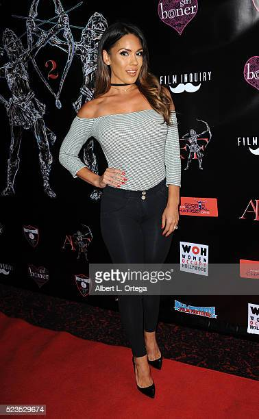 Model Carissa Rosario at the 2nd Annual Artemis Film Festival Red Carpet Opening Night/Awards Presentation held at Ahrya Fine Arts Movie Theater on...