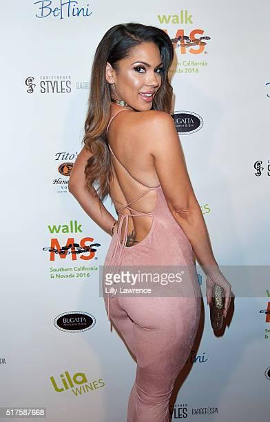 Model Carissa Rosario attends 3rd Annual LA's Walk MS Celebrity Kickoff Event at Bugatta Supper Club on March 25 2016 in Los Angeles California
