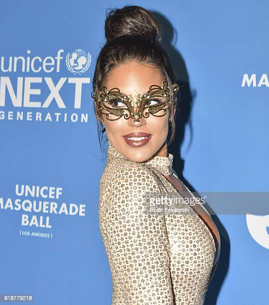 Model Carissa Rosario attends 4th Annual UNICEF Masquerade Ball at Clifton's Cafeteria on October 27, 2016 in Los Angeles, California.