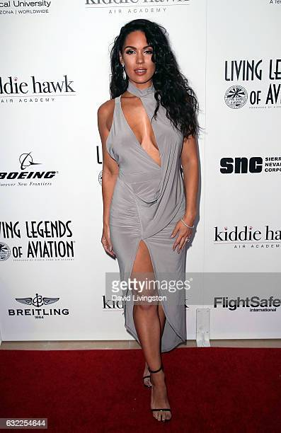 Model Carissa Rosario attends the 14th Annual Living Legends of Aviation Awards at The Beverly Hilton Hotel on January 20, 2017 in Beverly Hills,...