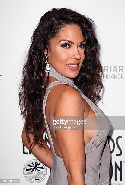 Model Carissa Rosario attends the 14th Annual Living Legends of Aviation Awards at The Beverly Hilton Hotel on January 20 2017 in Beverly Hills...