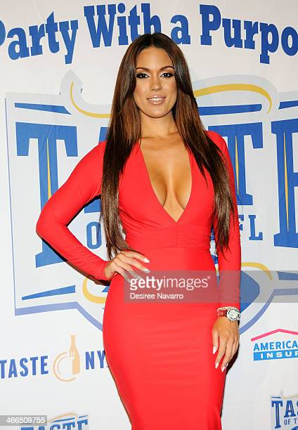 Model Carissa Rosario attends the 23rd Annual Super Bowl Party With A Purpose at Brooklyn Cruise Terminal on February 1 2014 in New York City