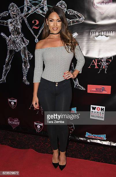 Model Carissa Rosario attends the 2nd Annual Artemis Film FestivalRed Carpet Opening Night/Awards Presentation at Ahrya Fine Arts Movie Theater on...