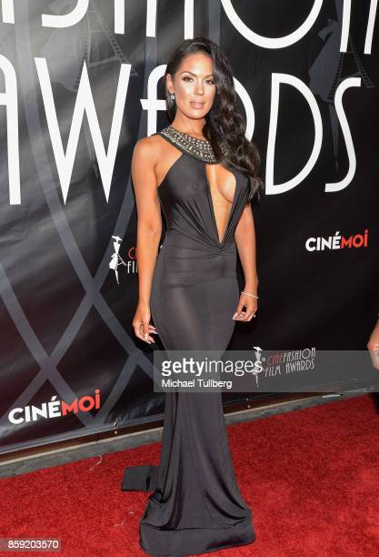 Model Carissa Rosario attends the 4th Annual CineFashion Film Awards at El Capitan Theatre on October 8, 2017 in Los Angeles, California.