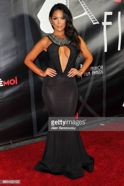 Model Carissa Rosario attends the 4th Annual CineFashion Film Awards at El Capitan Theatre on October 8 2017 in Los Angeles California