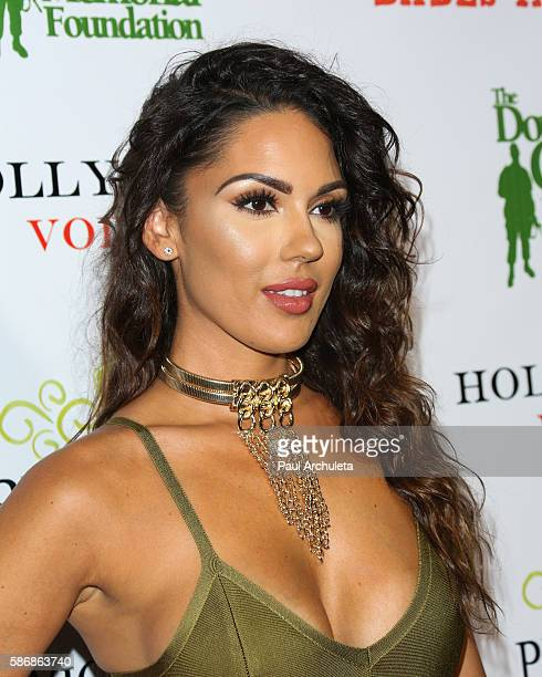 Model Carissa Rosario attends the Babes In Toyland Support Our Troops event at Le Jardin night club on August 3 2016 in Hollywood California