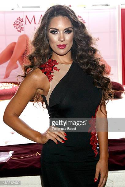 Model Carissa Rosario attends the GBK Luxury Sports Lounge prior to the ESPY Awards held at W Hollywood on July 15 2014 in Hollywood California