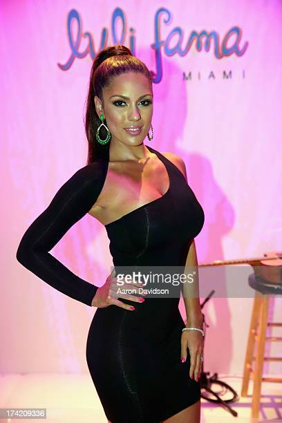 Model Carissa Rosario attends the Luli Fama show during MercedesBenz Fashion Week Swim 2014 at Cabana Grande at the Raleigh on July 21 2013 in Miami...