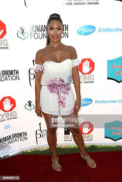 Model Carissa Rosario attends the Say NO Bullying Festival at Griffith Park on August 13, 2016 in Los Angeles, California.