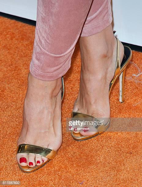 Model Carissa Rosario, Shoe detail, attends 3rd Annual LA's Walk MS Celebrity Kickoff Event at Bugatta Supper Club on March 25, 2016 in Los Angeles,...