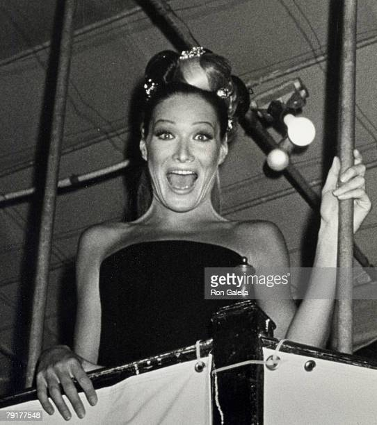 Model Carla Bruni attending Rock N Rule AmFAR Benefit Party Hosted by Gianni Versace on September 14 1992 at Park Avenue Armory in New York City New...