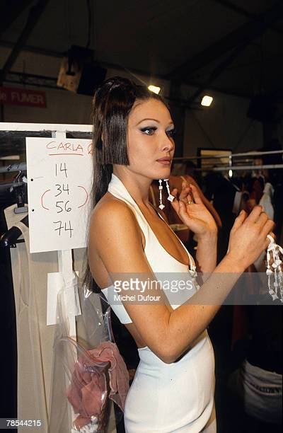 PARIS Model Carla Bruni prepares backstage in Paris France According to reports December 18 2007 French President Nicolas Sarkozy has asked the...
