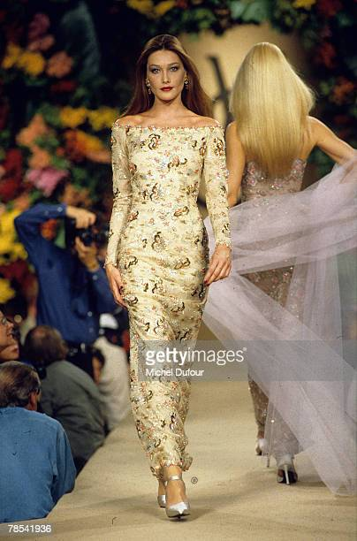 PARIS Model Carla Bruni walks the catwalk at a YSL fashion show in Paris France According to reports December 18 2007 French President Nicolas...
