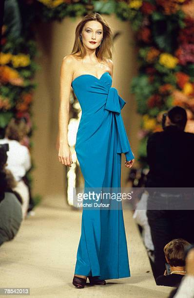 PARIS Model Carla Bruni walks the catwalk at a YSL high fashion show in Paris France According to reports December 18 2007 French President Nicolas...