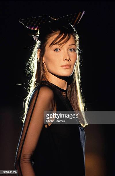 PARIS Model Carla Bruni walks the catwalk at the Versace High Fashion show in Paris France According to reports December 18 2007 French President...