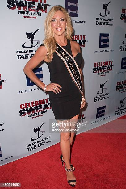 Model Carla Gonzalez attends Celebrity Sweat's VIP ESPYS after party at The Palm Restaurant on July 15 2015 in Los Angeles California