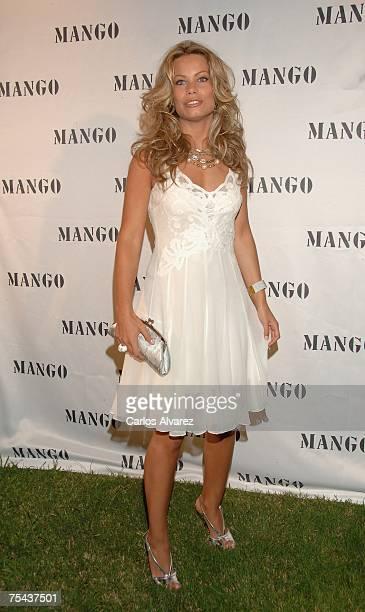 Model Carla Goyanes arrives to the Mango Party on July 16 2007 at Atzaro Hotel in Ibiza Spain