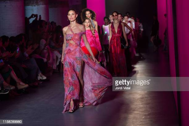 Model Carla Pereyra walks the runway at Lola Casademunt fashion show during Barcelona 080 Fashion Week – June 2019 at Recinte Modernista Sant Pau on...